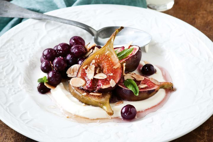 Safpa Honey Roasted Figs With Limoncello Creme Fraiche